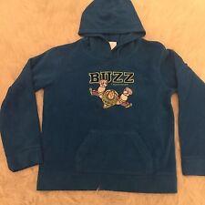 Disney Fleece Hoodie Buzz Lightyear Pullover Blue Size Youth L 10-12 Jacket Soft