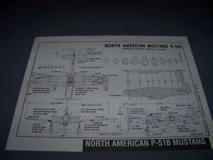 VINTAGE..NORTH AMERCIAN P-51B MUSTANG...3-VIEWS/DETAILS..RARE! (231B)