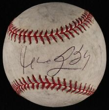 Manny Ramirez Signed Game Used Ball Boston Red Sox Indians Kochi Fighting Dogs +