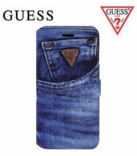 GUESS Book Type Flip Case for Apple iPhone 6/6S Blue Denim Style (GUMFLBKP6DE)