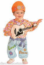 INFANT LI'L ROCK STAR BABY HIPPIE HALLOWEEN COSTUME 18.5-23 Lbs HAT & ONESIE
