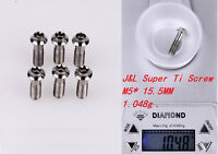 J&L Super Titanium/Ti Stem Bolts-for 3T,Easton,ENVE,Zipp,FSA,Ritchey-1g* 6pc