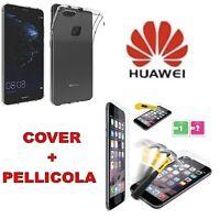 Custodia Cover Case Slim in silicone trasparente per Huawei P10 Lite + Pellicola