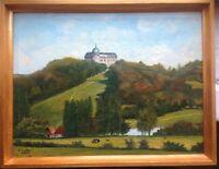 ::H. AUGUSTIN Schloss Hinnenburg bei Brakel im LK Höxter, Nordrhein-Westfalen öl