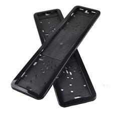 2pcs Carbon Fiber Stainless Steel License Number Plates Surrounds Holder Frame