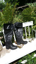 Victorian Style Black &Knee High Boots - New - Steampunk Goth