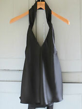 NEW Madonna 'M' Collection for H&M Black Silk Halter Neck Top UK 14 EUR 40 US 10