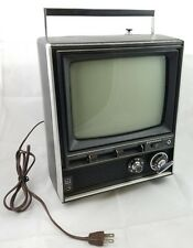 Vintage PANASONIC TR-449B Transistor Portable TV Television 1970s Black & White