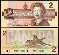 CANADA 2 DOLLARS 1986 P 94 a CROW BOUEY AUNC ABOUT UNC