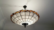 Vintage beautiful handmade real AMBER jewellery Tiffany style ceiling lamp Rare
