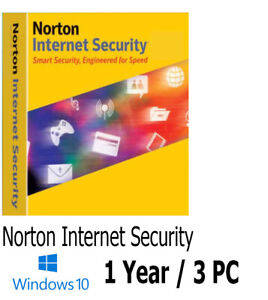 Symantec 1 Year / 3 PC Norton Internet Security Code Key - fast delivery