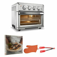 Cuisinart Air Fryer Convection Oven with Cookbook, Oven Mitt, and Flipper Tongs