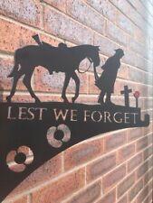 Lest We Forget war horse hanging basket bracket
