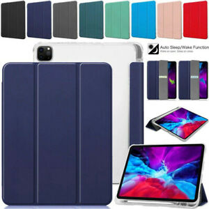 PU Leather Smart Stand Case Cover w/Pencil Holder For iPad Pro 11 12.9 2018/2020