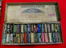 VINTAGE GRUMBACHER SOFT PASTELS HALF-LENGTH ASSORTMENT CHALK 00/C