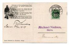 NORWAY/POLAR: Postcard to Denmark from Fram, Amundsen, Polhavet 1914, scarce(B3)