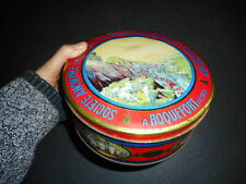 ROQUEFORT SOCIETE FROMAGE CAVE BOITE TOLE LITHO PUB ANCIENNE TIN BOX