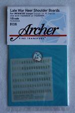 Archer 1/35 Late War Heer Shoulder Boards for Infantry Troops FG35050A