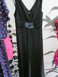 Debenhams Collection Ladies Black Evening Dress Size 12 V-Neck party reception f