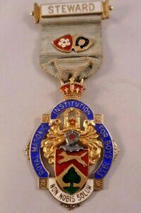 1933 Silver Gilt Masonic Stewards Jewel - Royal Masonic Institution For Boys