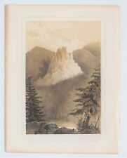 CASTLE Rock In Canon of MPTO-LY-AS River, OR 1857 USPRR RR Railroad Survey Print