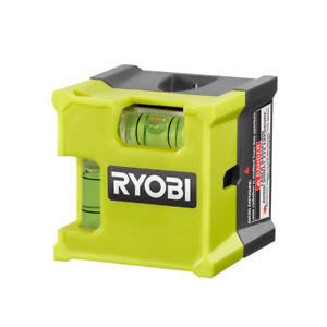 Ryobi Laser Level Ultra Compact Cube Bubble 10ft Range Measuring Guide Lazer