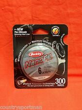 BERKLEY NanoFil Fishing Line 6 lb (300 yd) #NF3006-22- Low-Vis Green