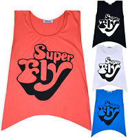 Ladies New Sleeveless Vest Top Womens Summer Holiday T-shirt Blouse UK S/M M/L
