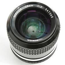 Nikon Nikkor 28mm f/2 AI Super Sharp Man'l F'cs Lens. Exc++++. See test images