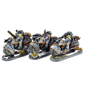 SPACE WOLVES 3 Swiftclaws bikers #2 PRO PAINTED Warhammer 40k