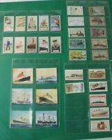 Konvolut Sammelbilder Zigarettenbilder Automatenbilder Maritime Motive Alb-548