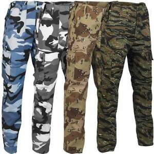 Mens US Army M65 Style Combat Trousers Military BDU Camouflage Cargo Pants
