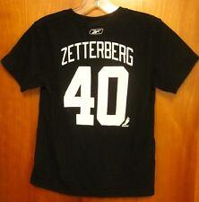DETROIT RED WINGS Henrik Zetterberg youth small T shirt size 8 tee Reebok ZATA