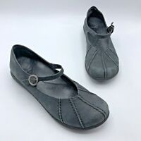 Dansko A06 32 Black Suede Mary Jane Shoe Size 11.5-12 EUR 42 Pre Owned