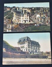 2 VINTAGE Post Cards GRANVILLE. LE CASINO ET L'HOTEL DE NORMANDIE Curte Postale