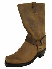 $388 Frye Womens Harness 12R Tall Pull On Riding Boots, Tan, US 9.5