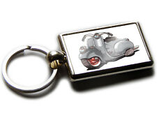 VESPA 98 Moped Scooter Koolart Chrome Keyring Picture Both Sides