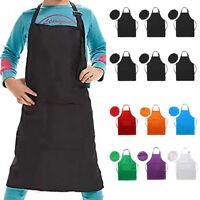 ALS_ 6Pcs Kids Chef Hat Apron Set Art Painting Cooking Baking Pretend Costume No