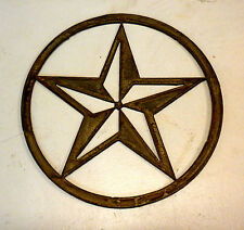 Texas Star 8 in Rough Rusty Vintage Western Metal Art Ornament Stencil Craft