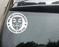 LARGE We Are Anon, We Are Legion Car/Window JDM VW DRIFT Vinyl Decal Sticker