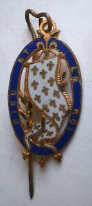 Epingle Partisan Comte de Chambord Royaliste Lys ordre médaille Roi croix Vendée