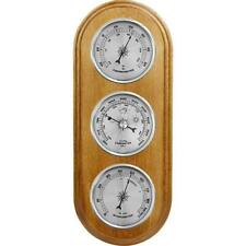 Weather Station Barometer Thermometer Hygrometer Silver Coloured Dials New Gift