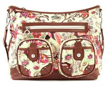 Oilily Tropical Birds Shoulder Bag Umhängetasche Tasche Off White