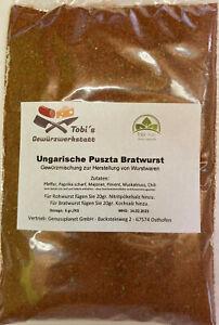 Ungarische Puszta Bratwurst Gewürzmischung 100gr Wurstherstellung ohne Pökelsalz