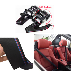 Car Racing Seat Belt M Style Blue Red Strip Racing Harness Ribbon for BMW