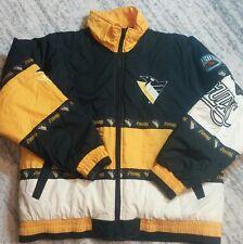 Vintage Pittsburgh Penguins Pro Player Jacket Size L Large Rare Coat NHL Hockey