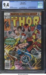 Thor #271 CGC 9.4 1978 - Avengers, Nick Fury, Spider-man, Shang-Chi & Dr Doom