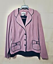 Sheri Martin New York Lavender & Black 2 piece Size 14 Career Skirt Set