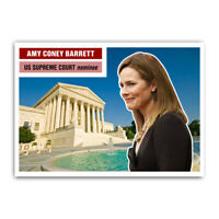 Amy Coney Barrett 1950s Style Supreme Court Collectible Trading Card Republican
