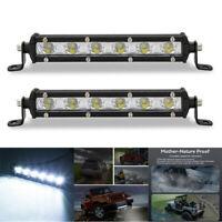 "2x 18W 7"" LED Work Light Bar Spot Driving Fog Lights Lamp Off Road SUV 6000K Set"